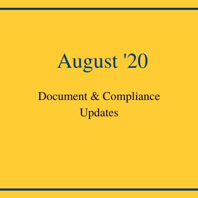 August Compliance Recap: New State Disclosure Matrix and Document Changes