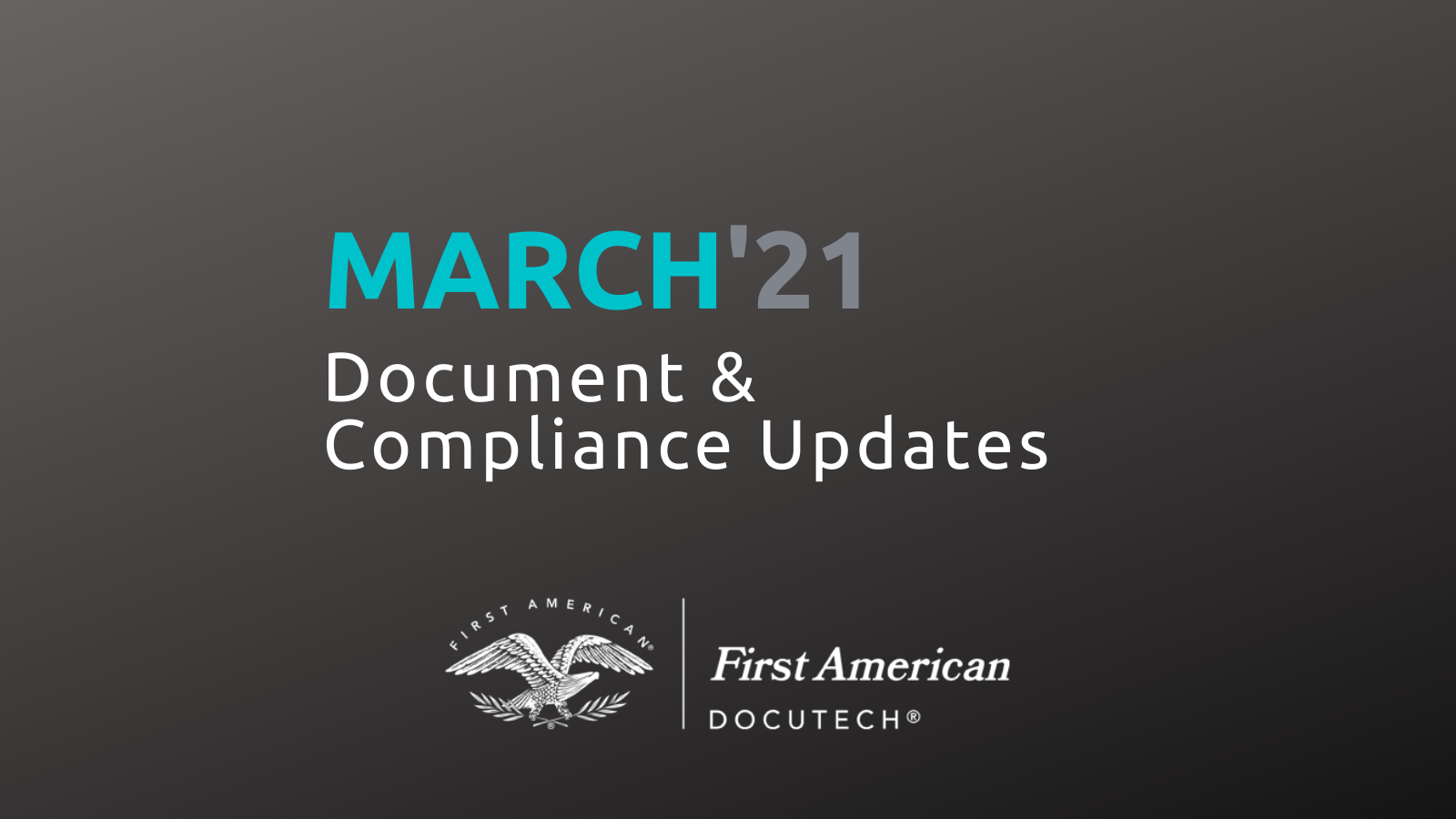 March 2021 Compliance Roundup