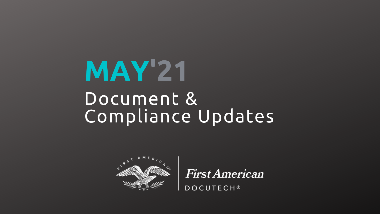 May '21 Compliance Roundup