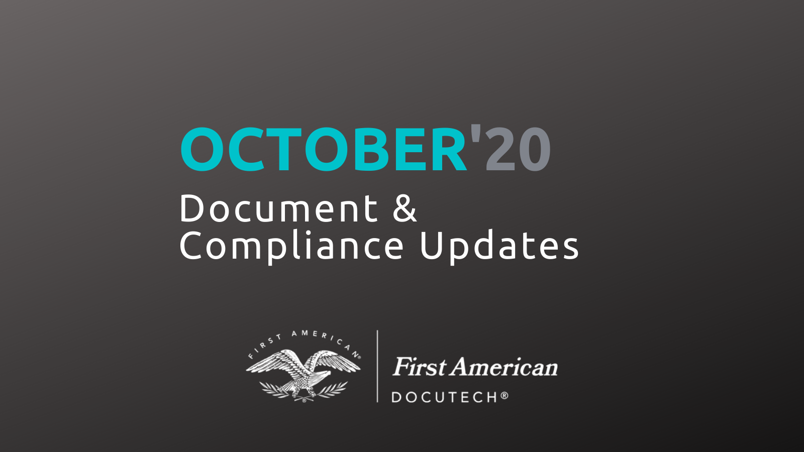 October Compliance Roundup